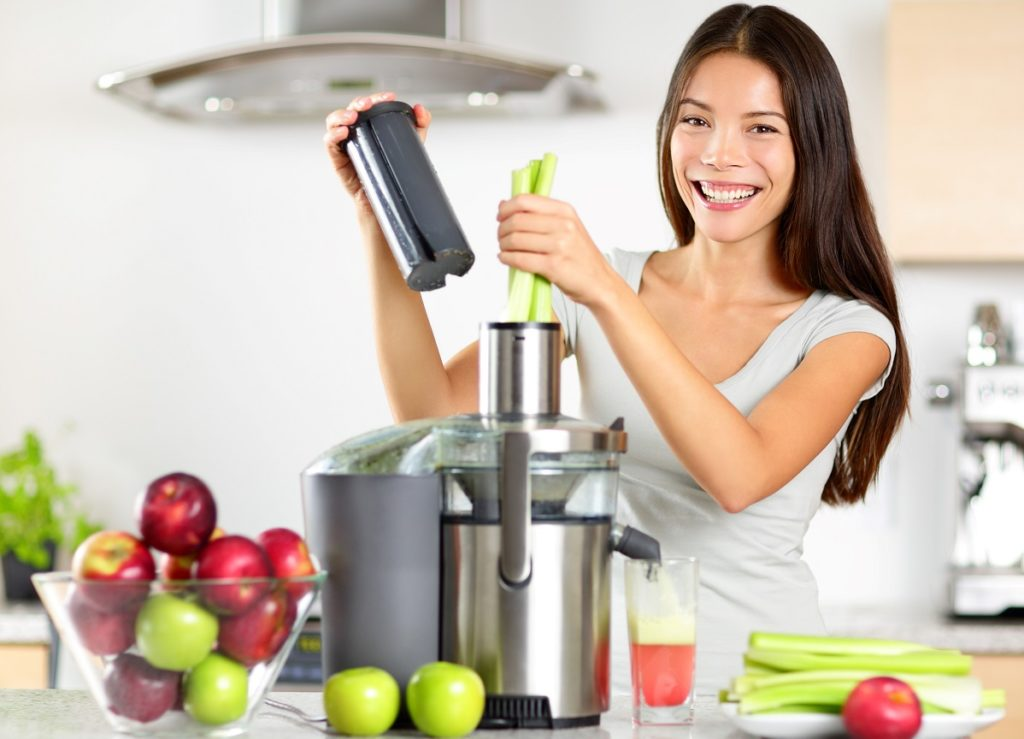 Healthy Girl Juicing for Detox